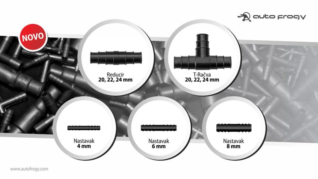 Novi proizvodi reduciri nastavci t-račve